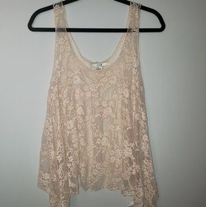 Forever 21 Sheer Lace Tank